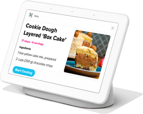 Get Google Home Hub with Tasty, the world's best sous chef!